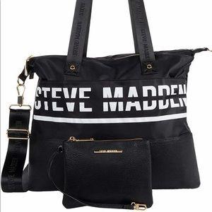 Steve Madden Black Weekender & Wallet  New